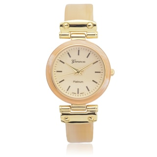 Geneva Platinum Women's Shell Link Watch