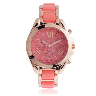 Geneva Platinum Women's Color Pop Link Watch