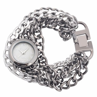 Geneva Platinum Quartz Chain Watch