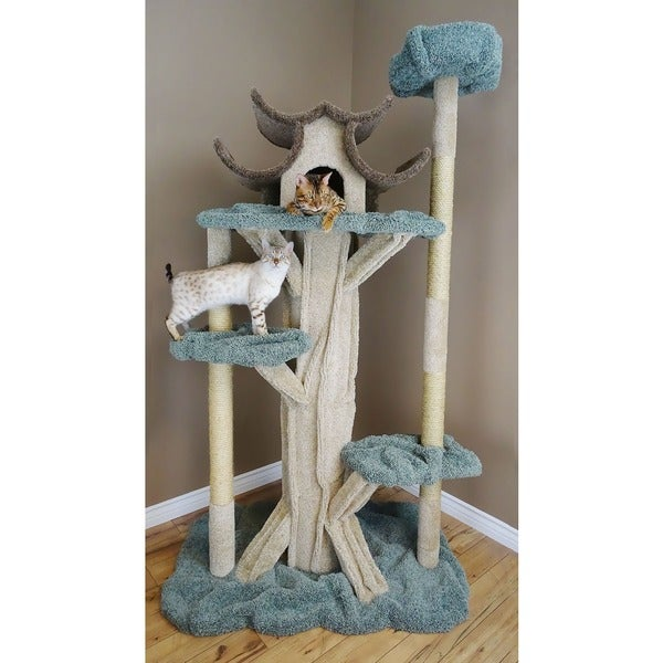 Prestige Cat 7 Foot Solid Wood Cat Tree Free Shipping
