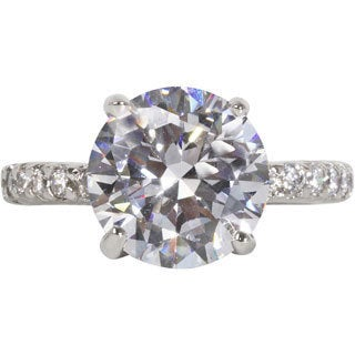 NEXTE Jewelry Sterling Silver Round-cut Cubic Zirconia Mounted On A Full Eternity Band