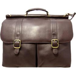 David King Leather 143 Dowel Laptop Briefcase Cafe