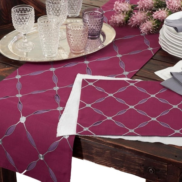 Shop Embroidered Design Table Runner Or Set Of 4 Placemats Free