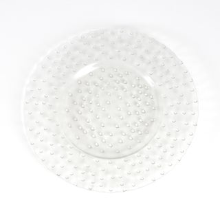Hobnail Design Glass Charger (Set of 4)