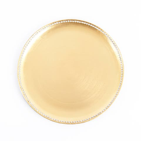 Studded Design Charger Plate (set of 4)