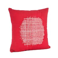 Stitched Design 18-inch Down Filled Throw Pillow