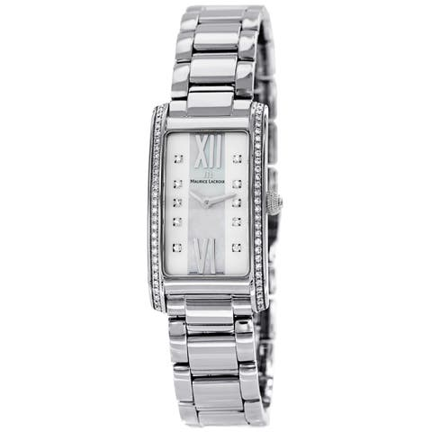 Maurice Lacroix Women's 'Fiaba' Mother of Pearl Diamond Dial Stainless Steel Watch
