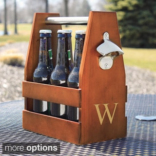 Personalized Wooden Craft Beer Carrier with Opener