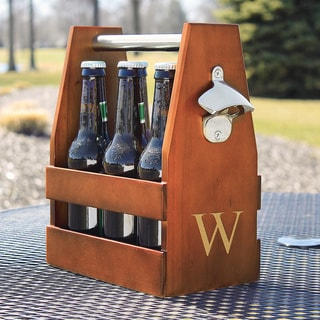 Personalized Wooden Craft Beer Carrier and Opener