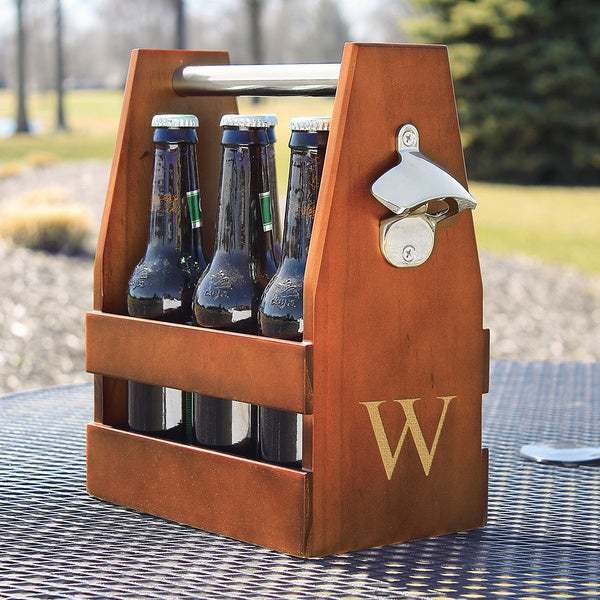 Shop Personalized Wooden Craft Beer Carrier And Opener Free