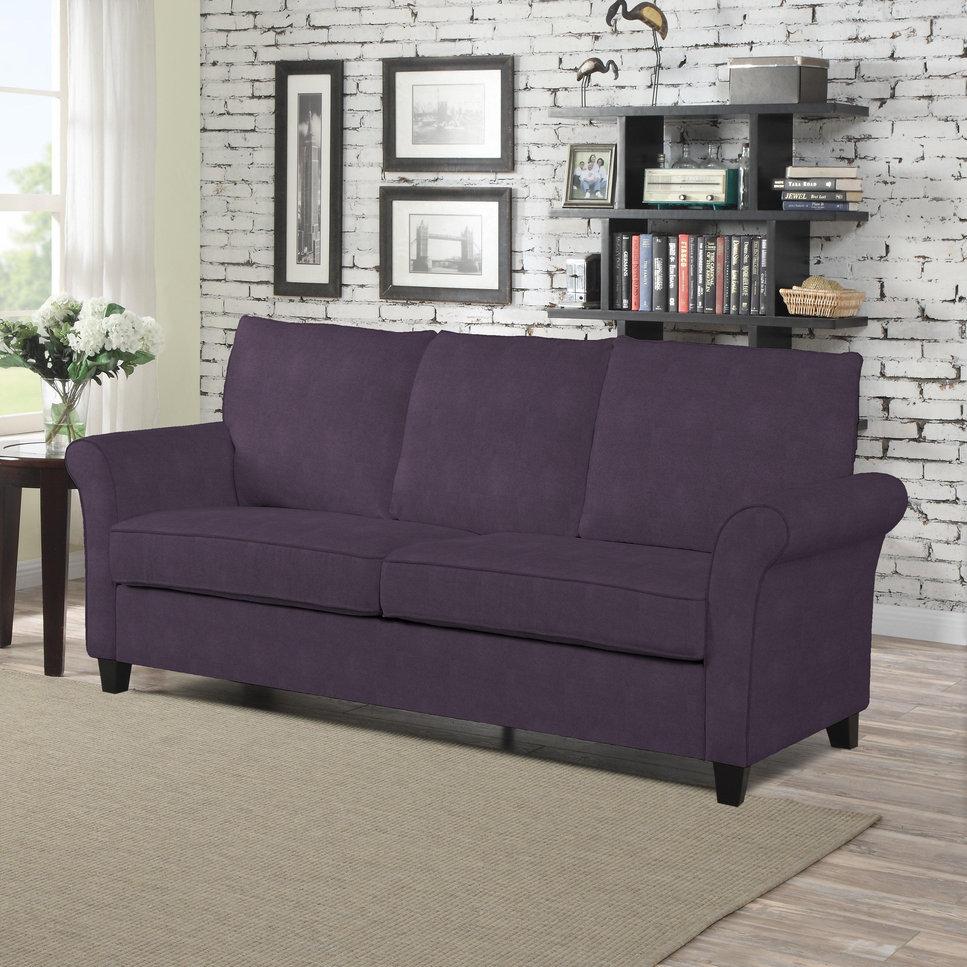 living purple velvet loveseat pin chesterfield polyester handy plum