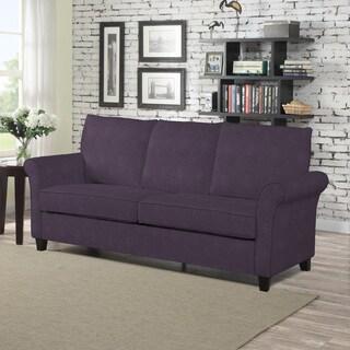 Handy Living Radford Plum Velvet SoFast Sofa