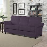 Clay Alder Home Pope Street Plum Velvet SoFast Sofa