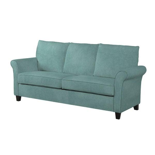 Handy Living Radford Turquoise Velvet SoFast Sofa Free Shipping