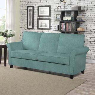 Handy Living Radford Turquoise Velvet SoFast Sofa