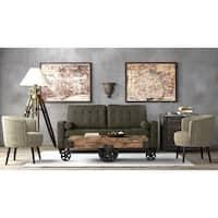 Handy Living Taya Tufted Basil Green SoFast Sofa