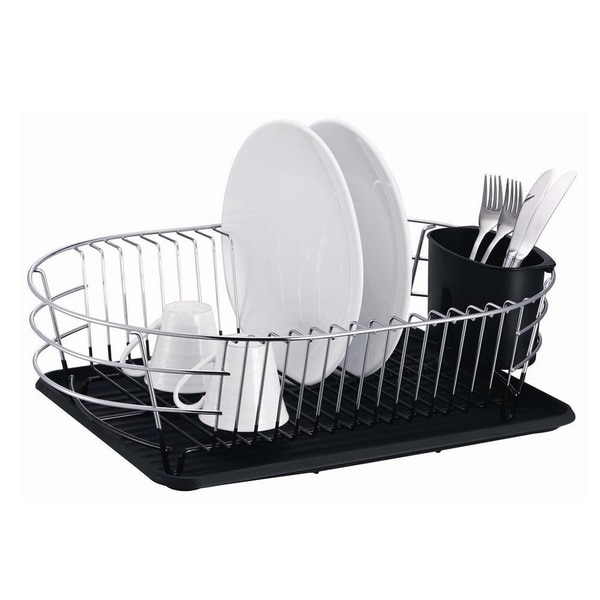 Extra Large Metal Wire Dish Rack With Drain Board