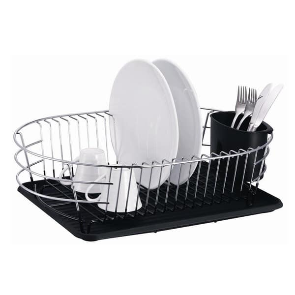 Shop Extra Large Metal Wire Dish Rack with Drain Board   Overstock