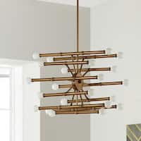 Bali Goldtone 22-light Chandelier
