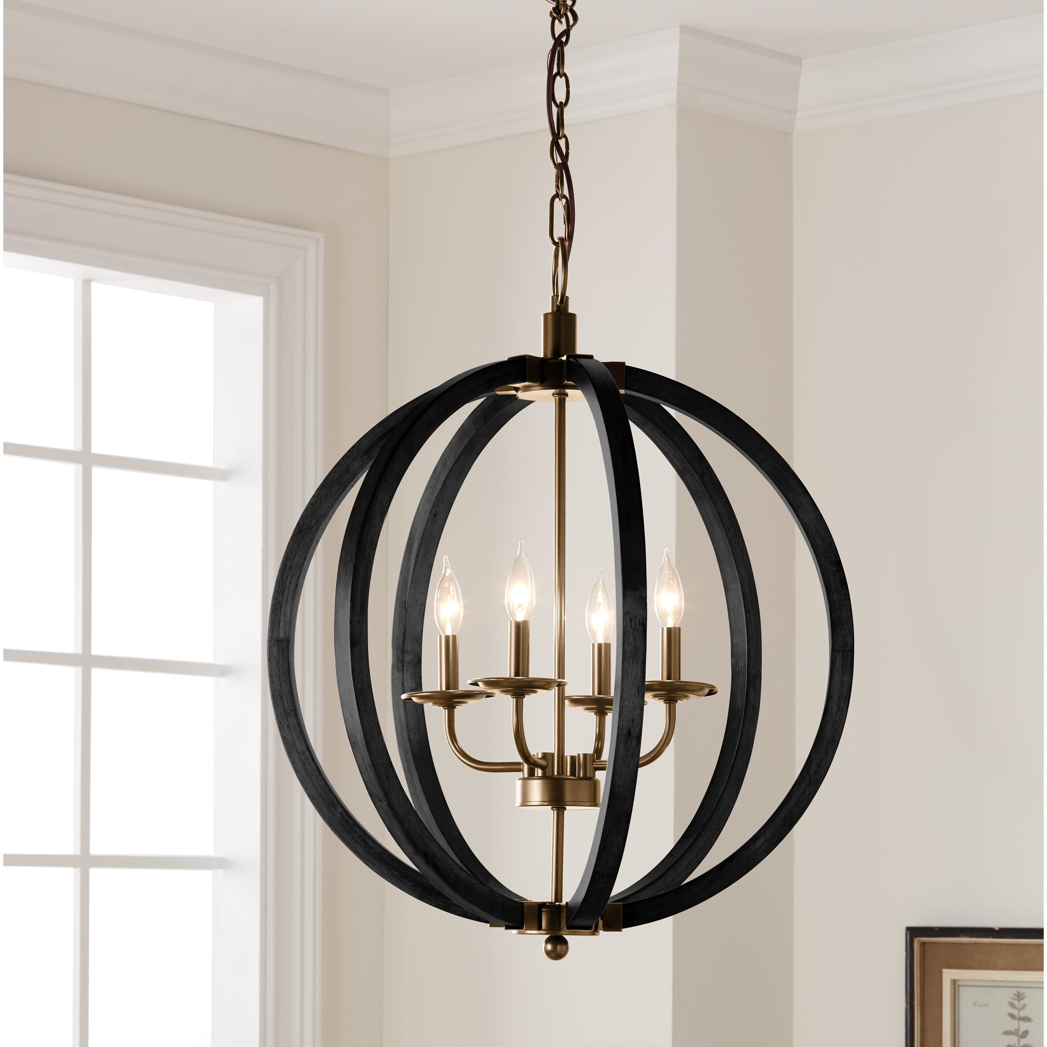 The Gray Barn Vineyard 4 Light Orb Chandelier