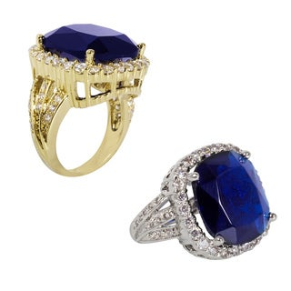 NEXTE Jewelry Goldtone Or Silvertone Blue Cubic Zirconia Ring