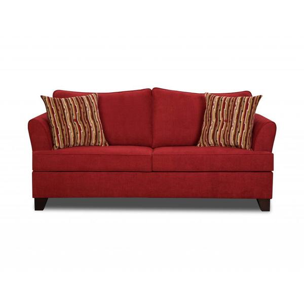 Made to Order Simmons Upholstery Diver Red Loveseat