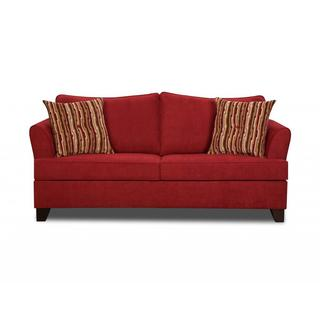 Made to Order Simmons Upholstery Diver Red Full Hide-A-Bed