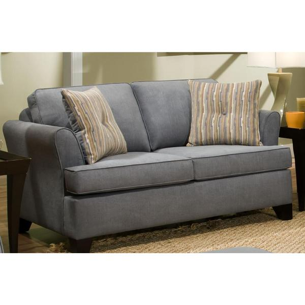 Made To Order Simmons Upholstery Diver Blue Full Hide A Bed Sofa Free Shipping Today