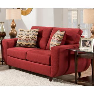 Made to Order Simmons Upholstery Killington Red Loveseat