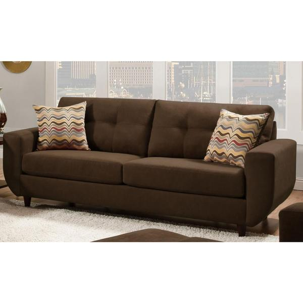 Made to Order Simmons Upholstery Killington Chocolate Sofa