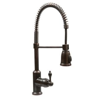 Premier Copper Products Oil Rubbed Bronze Spring Pull-down Kitchen Faucet