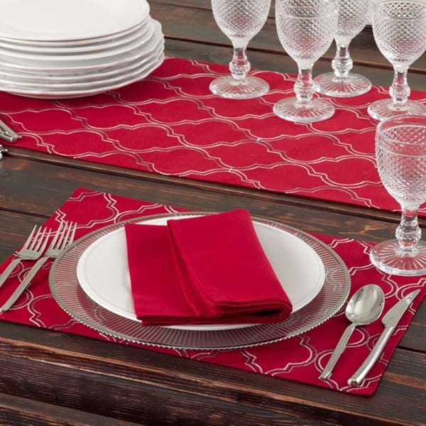 Embroidered Ikat Design Table Runners Or Set Of 4 Placemats