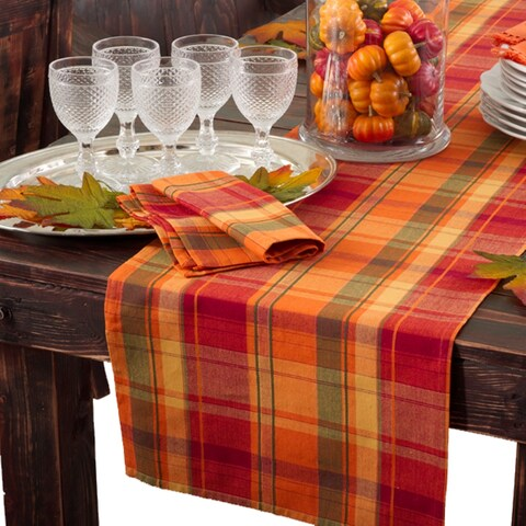Harvest Design Table Runner or Set of 4 Napkins