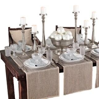 Silver Beaded Design Table Runner