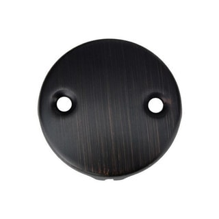 Premier Copper Products Two-Hole Oil Rubbed Bronze Overflow Cover/ Face Plate