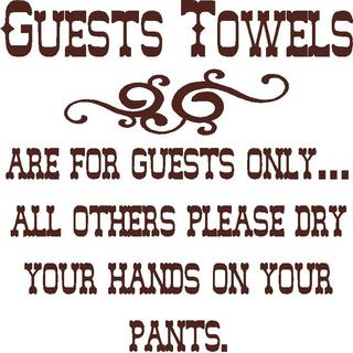 Guest Towels Vinyl Wall Art