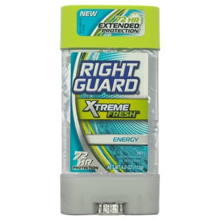 Right Guard Xtreme Fresh Energy Gel Antiperspirant & Deodorant 4-ounce Deodorant Stick