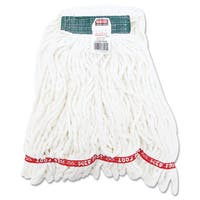 Rubbermaid Commercial White Cotton/Synthetic Web Foot Shrinkless Looped-End Wet Mop Head