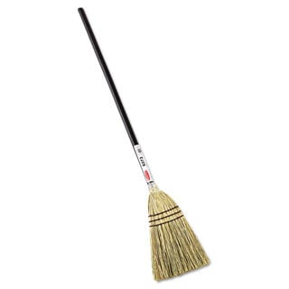 Rubbermaid Commercial 38-inch Handle Brown Lobby Corn-fill Broom
