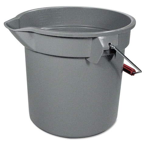Rubbermaid Commercial Grey Round 14-quart Utility Bucket