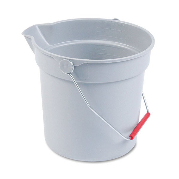 Rubbermaid Commercial Grey Plastic 10-quart Utility Bucket