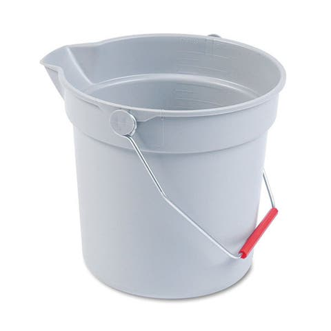 Rubbermaid Commercial Grey Plastic 10-quart Utility Bucket