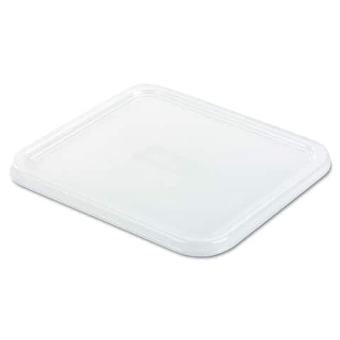 Rubbermaid Commercial White 8 4/5 x 8 3/4 SpaceSaver Square Container Lid