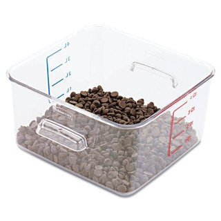Rubbermaid Commercial Clear SpaceSaver Square 4-quart Container