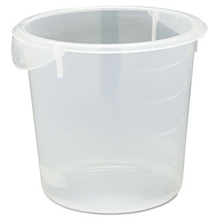 Rubbermaid Commercial Clear 4qt 8 1/2 Dia. x 7 3/4 Round Storage Container