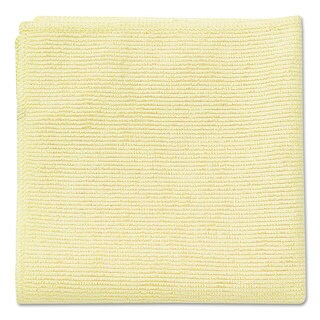 Rubbermaid Commercial Yellow Microfiber Cleaning Cloths (Pack of 24)