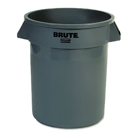 Rubbermaid Commercial 20-gallon Grey Round Brute Container