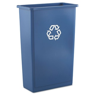 Rubbermaid Commercial Slim Jim Blue 23-gallon Recycling Container