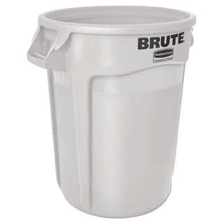 Rubbermaid Commercial 10-gallon White Plastic Round Brute Container