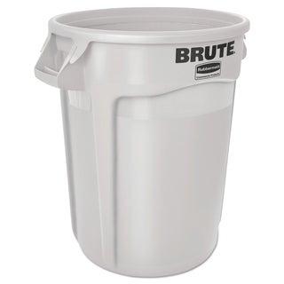 Rubbermaid Commercial 10-gallon White Plastic Round Brute Container